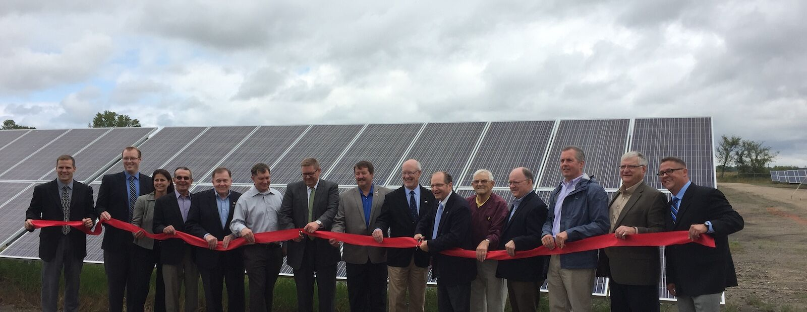 Dickinson Solar Project Ribbon Cutting